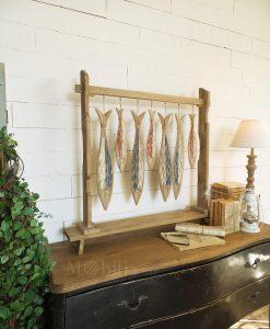 scutlura con pesci legno modello fishes orchidea milano