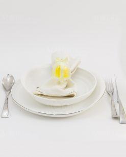 segnaposto alzatina pvc con saponetta gialla limone