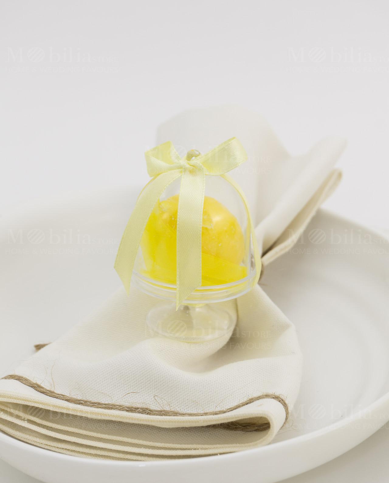 Segnaposto Matrimonio Limoni.Segnaposto Alzatina Pvc Con Saponetta A Forma Di Limone Mobilia