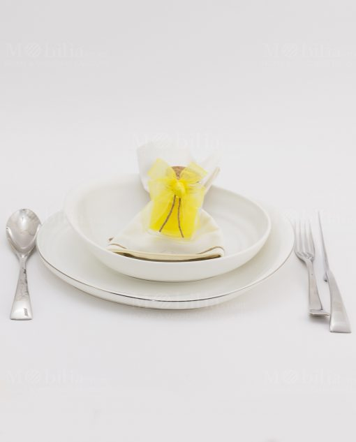 segnaposto barattolo vetro con tappo sughero con saponetta gialla limone