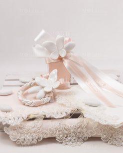 segnaposto con farfalle bianche porcellana capodimonte con nastri linea forever rdm design