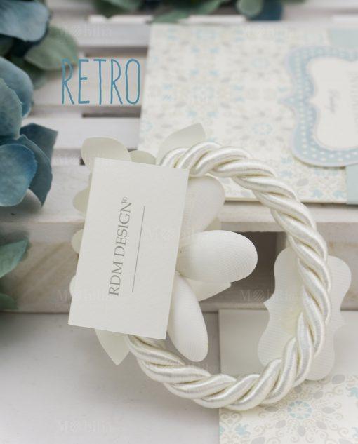segnaposto con fiore in cartoncino linea sweet memory rdm design