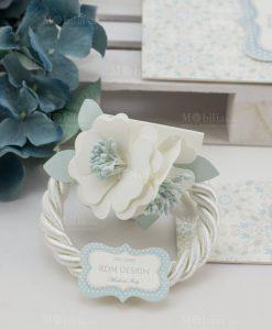 segnaposto fiore cartoncino con cordoncino linea sweet memory rdm design