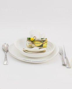 segnaposto sapone vegetale limone sicilia con corodncino e applicazione limone