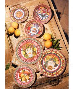 servizio piatti linea baroque and rock sicily red melamina baci milano
