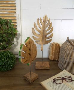 set due foglie decorative da tavolo modello tropical leaves orchidea milano