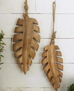 set due foglie legno modello tropical leaves orchidea milano