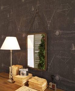 specchio da parete rettangolare con catena modello old look orchidea milano