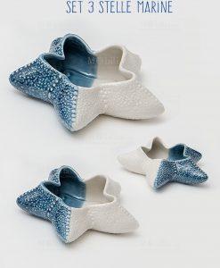 svuotatasche stella marina set di tre pezzi linea oceano ad emozioni