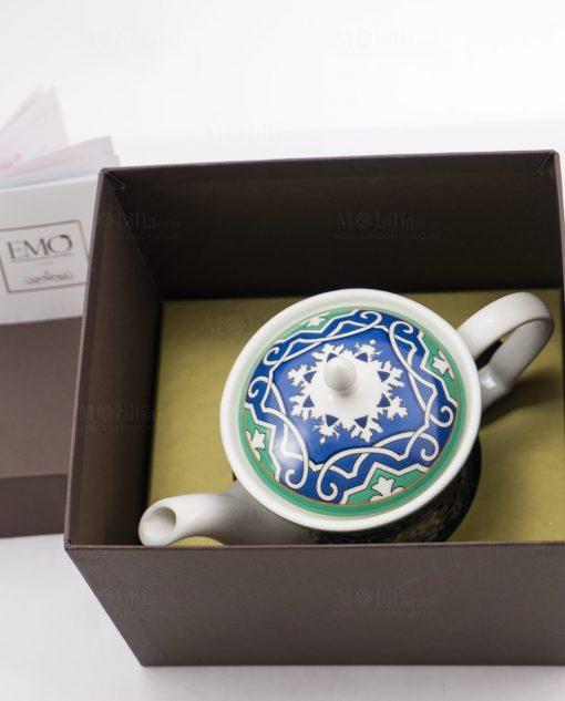 teiera con scatola art collection linea azulejos emò
