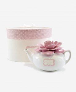 teira con fiore porcellana capodimonte linea blush rdm design