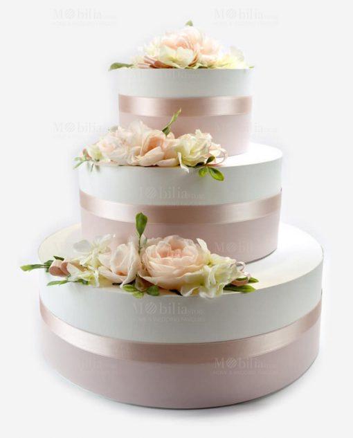 torta scatole portaconfetti e portabomboniera con rose linea forever rdm design