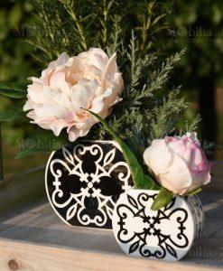 vasi con bouquet linea asapori e profumi black baci milano