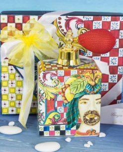 bomboniera bottiglia profumo spray con scatola linea baroque and rock sicily red baci milano