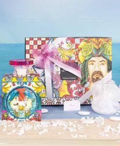 bomboniera diffusore di fragranza big maxi 375 ml con scatola linea baroque and rock sicily pink baci milano
