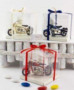 bomboniera modellino grande moto harley da collezione vari colori scatola pvc