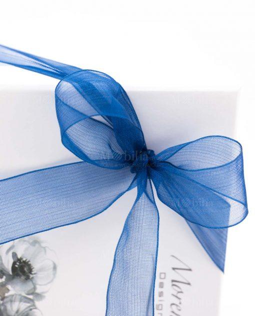 bomboniera morena dettaglio fiocco organza blu