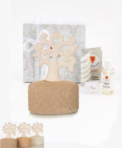 bomboniera profumatore con albero della vita e fragranza 3 colori assortiti cuore matto
