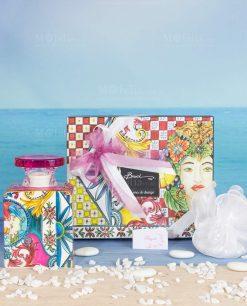 bomboniera profumatore midi 240 ml con scatola linea baroque and rock sicily pink baci milano