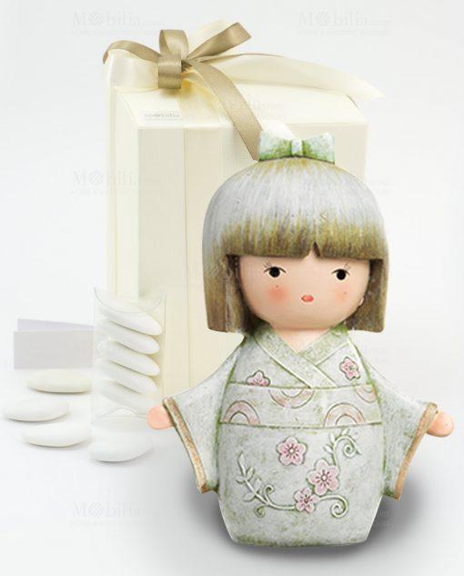 bomboniera salvadanaio giapponesina tre modelli assortiti
