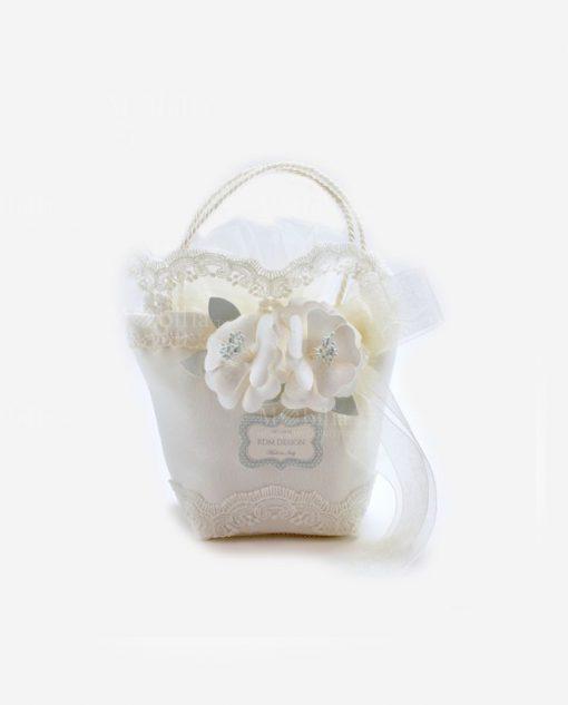 borsetta portaconfetti saccottino con ricamo linea love rdm design