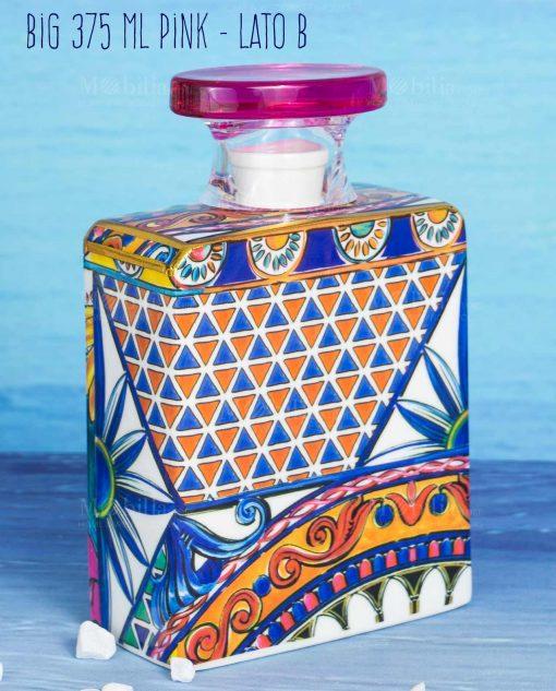 bottiglia diffusore di fragranza big maxi 375 ml lato b linea baroque and rock sicily pink baci milano