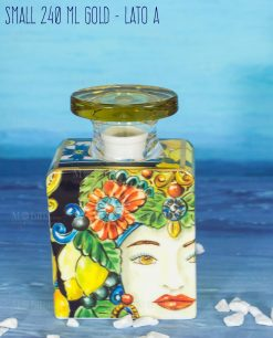 bottiglia profumatore 240 ml small lato a linea baroque and rock gold baci milano