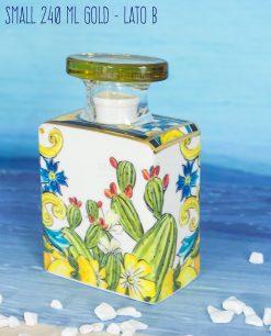 bottiglia profumatore 240 ml small lato b linea baroque and rock gold baci milano
