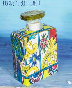 bottiglia profumatore big 375 ml lato b linea baroque and rock sicily gold baci milano