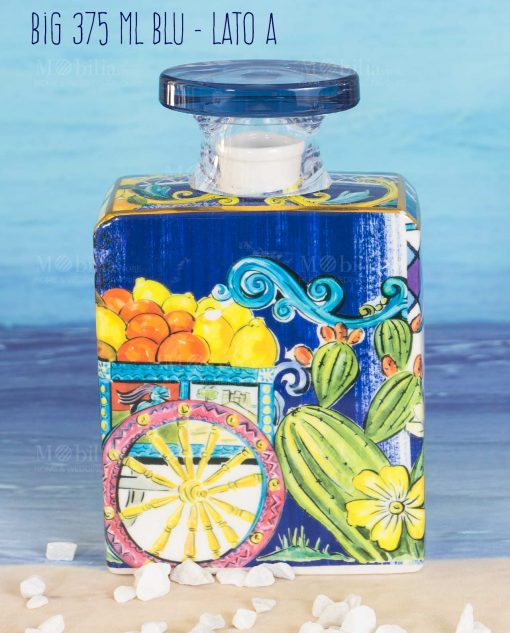 bottiglia profumatore big maxi 375 ml lato a linea baroque and rock sicily blu baci milano
