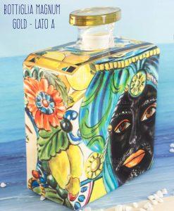 bottiglia profumatore magnum lato a linea baroque and rock sicily gold baci milano