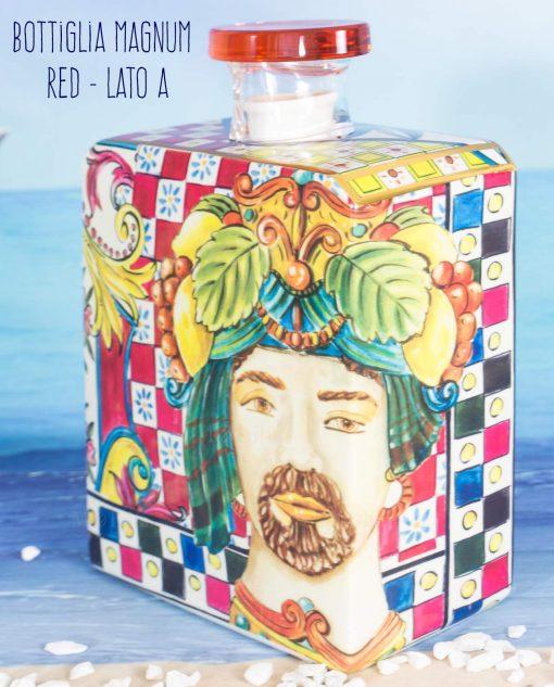 bottiglia profumatore magnum lato a linea baroque and rock sicily red baci milano