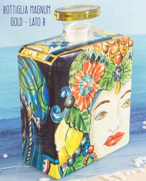 bottiglia profumatore magnum lato b linea baroque and rock sicily gold baci milano