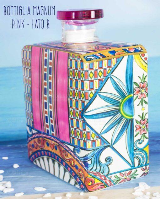 bottiglia profumatore magnum lato b linea baroque and rock sicily pink baci milano