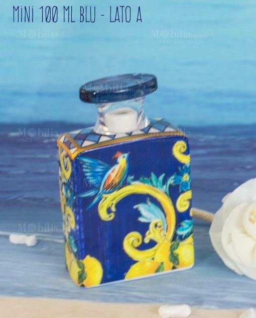 bottiglia profumatore mini 100 ml lato a linea baroque and rock sicily blu baci milano
