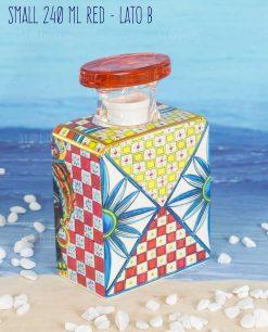 bottiglia profumatore mini small 240 ml lato b linea baroque and rock sicily red baci milano