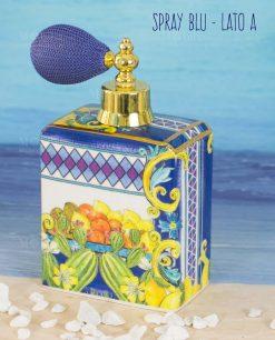 bottiglia profumo spray lato a linea baroque and rock sicily blu baci milano