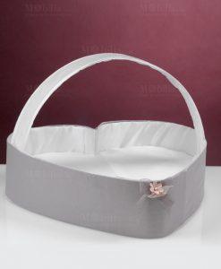 cesta porta bomboniere a forma di cuore con manico linea penelope cherry and peach