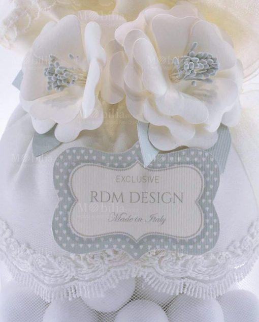 dettaglio fiori pochette portaconfetti linea sweet memory rdm design