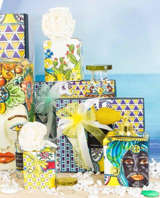 diffusori fragranza varie misure fiore profumo fragranza linea baroque and rock sicily blu baci milano