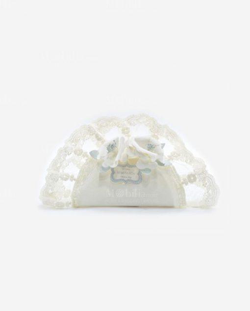 fazzoletto ovale grande con ricamo linea love rdm design