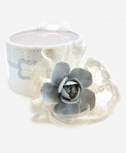 fazzoletto tondo con fiore ceramica linea love rdm design
