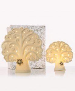 lampada led bianca albero della vita con fiorellino tortora 2 misure cuore matto