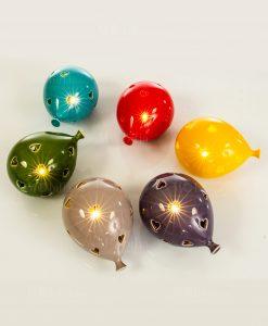 lampada led palloncino traforato vari colori cuore matto