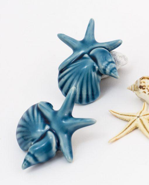 magnete calamita blu tema mare conchiglie e stella marina