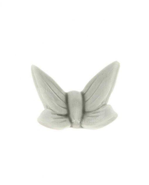 magnete farfalla porcellana grigia