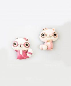 magnete rosa due modelli assortiti linea poldina cuorematto