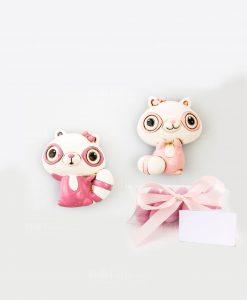 magnete rosa due modelli assortiti linea poldina su tubicino cuorematto