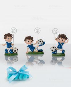 memoclip 3 modelli assortiti bambini con palla da calcio con tubicino confetti cuore matto