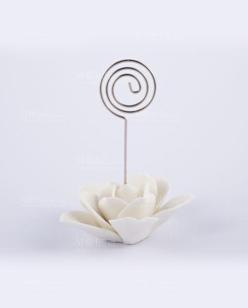 memoclip rosa bianca